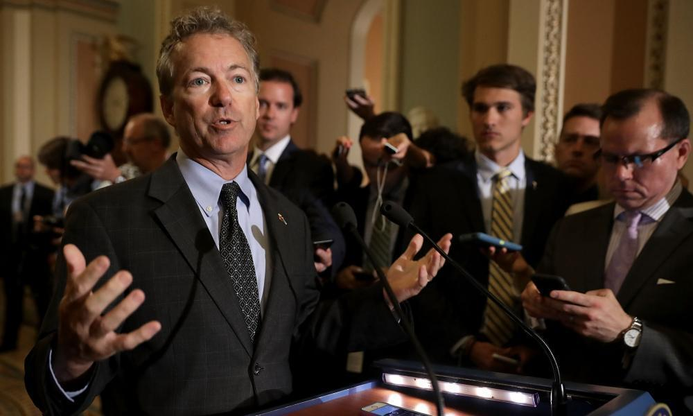 "<span class=""element-image__caption"">Rand Paul has helped to block Republican efforts to introduce a new health bill.</span> <span class=""element-image__credit"">Photograph: Chip Somodevilla/Getty Images</span>"