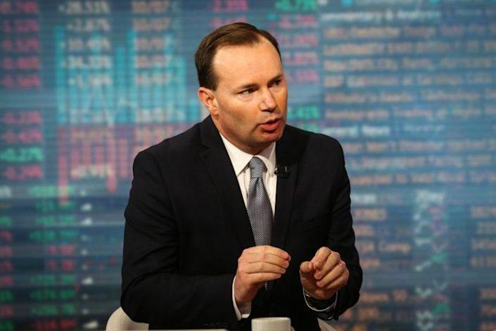 Senator Mike Lee, a Republican from Utah, speaks during a Bloomberg Television interview in New York, U.S., on Friday, June 2, 2017. Lee discussed the prospect of tax reform and the changes he expects to the tax code.
