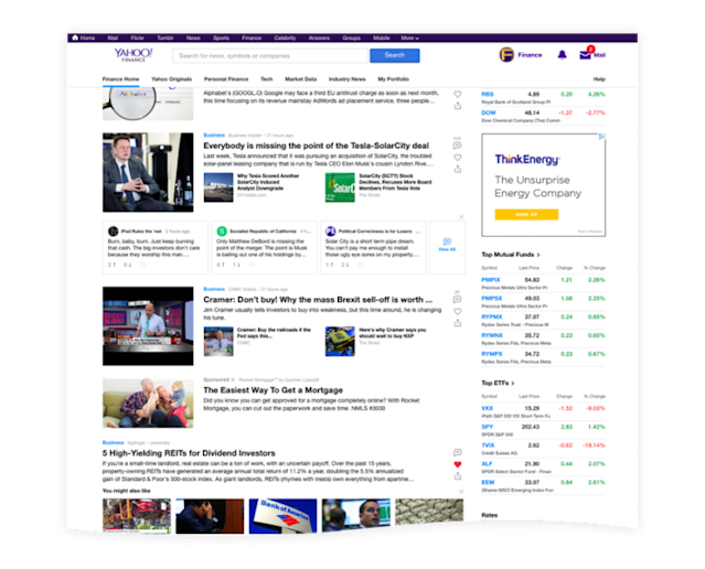 Yahoo Finance Gets A New Look!