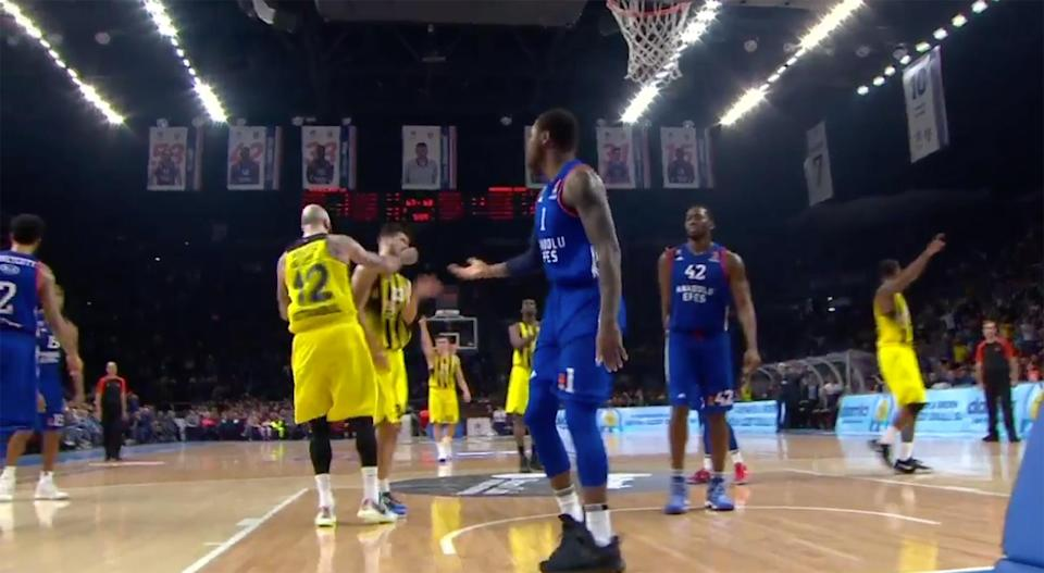 Pero Antic did not look both ways before pumping his fist, and an accident happened.
