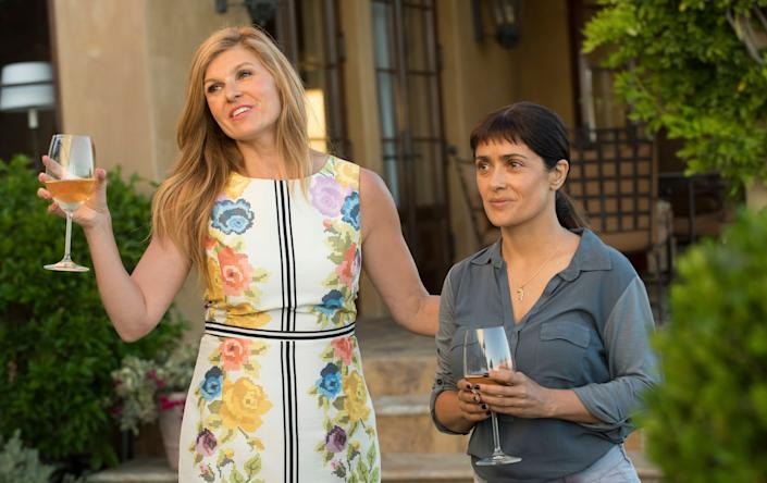 """Directed by Miguel Arteta &bull; Written by Mike White<br><br>Starring Salma Hayek, Connie Britton,&nbsp;Chlo&euml; Sevigny, John Lithgow, Jay Duplass, Amy Landecker and John Early<br><br><strong>What to expect:&nbsp;</strong>It's time for Salma Hayek to have a moment. """"Beatriz at Dinner"""" gives her one. Hayek plays a California-based holistic healer who apprehensively dines at her wealthy clients' home after her car breaks down. Beatriz's composure crumbles as her companions' subtle hostility toward immigrants emerges.&nbsp;Miguel Arteta and the exceedingly gifted Mike White are frequent collaborators -- their highlights include """"The Good Girl"""" and the impeccable HBO series """"Enlightened.""""<br><br><i><a href=""""https://www.youtube.com/watch?v=bCLNTmNj5bI"""" rel=""""nofollow noopener"""" target=""""_blank"""" data-ylk=""""slk:Watch the trailer"""" class=""""link rapid-noclick-resp"""">Watch the trailer</a>.</i>"""