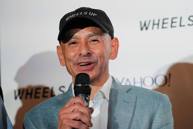 Jockey Mike Smith takes part in a news conference regarding the horse Justify and its chances of winning the Belmont Stakes and Triple Crown of Thoroughbred Racing later this week in New York, U.S., June 7, 2018. REUTERS/Lucas Jackson
