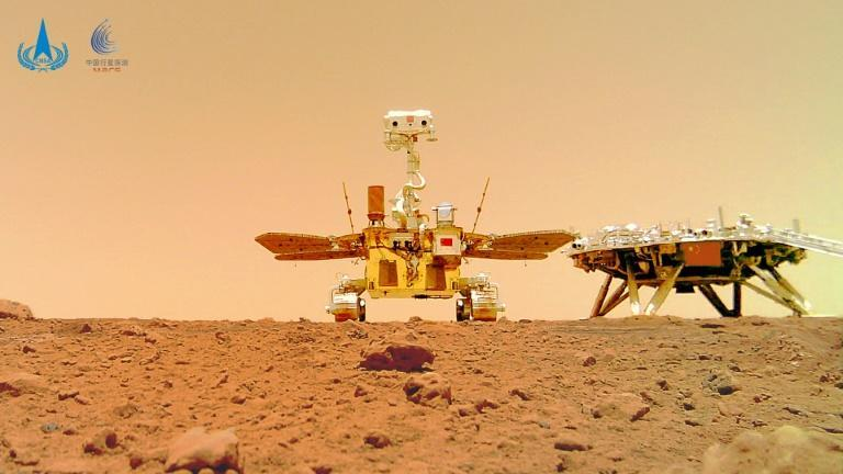 The Zhurong rover, named after a mythical Chinese fire god, has been studying the topography of a vast Martian lava plain known as the Utopia Planitia