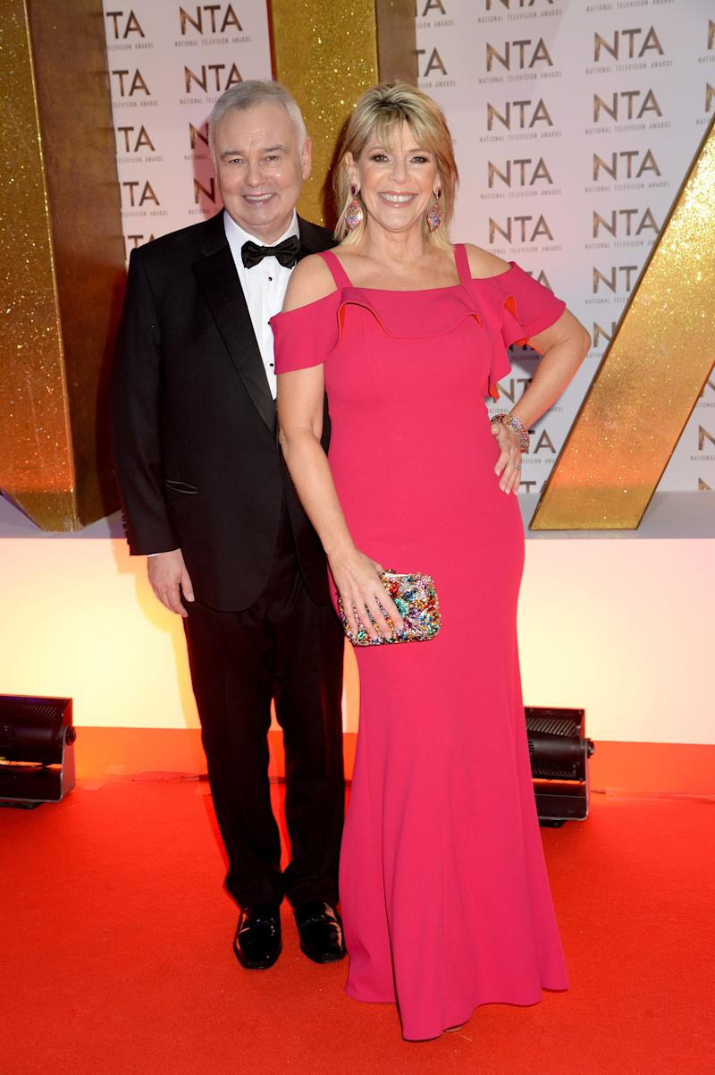 LONDON, ENGLAND - JANUARY 28: Eamonn Holmes and Ruth Langsford attend the National Television Awards 2020 at The O2 Arena on January 28, 2020 in London, England. (Photo by Dave J Hogan/Getty Images)