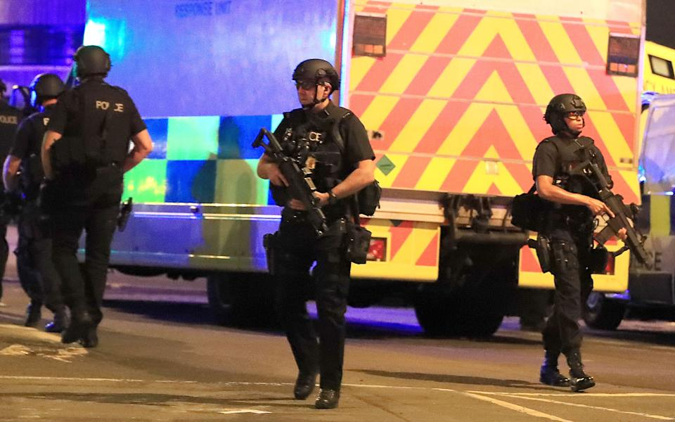 File photo dated 22/05/17 of the scene close to the Manchester Arena after the terror attack at an Ariana Grande concert. Hashem Abedi, brother of the Manchester Arena bomber Salman Abedi, is due to be sentenced for his part in the atrocity, more than three years after 22 people were murdered and hundreds of others were hurt.