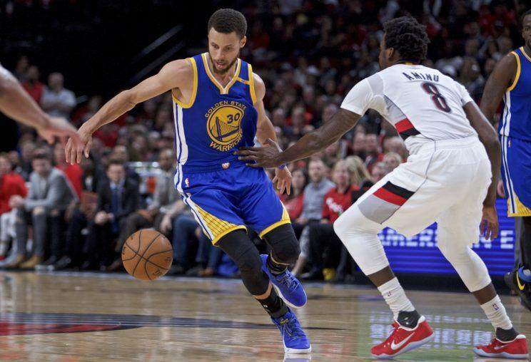 Stephen Curry led the Warriors to a thorough blowout to complete the sweep. (AP)