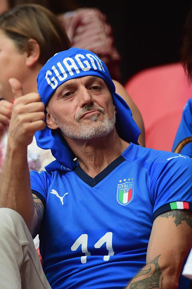 Fan of Italy and Alia Guagni attends the 2019 FIFA Women's World Cup France group C match between Italy and Brazil at Stade du Hainaut on June 18, 2019 in Valenciennes, France. (Photo by Pier Marco Tacca/Getty Images)