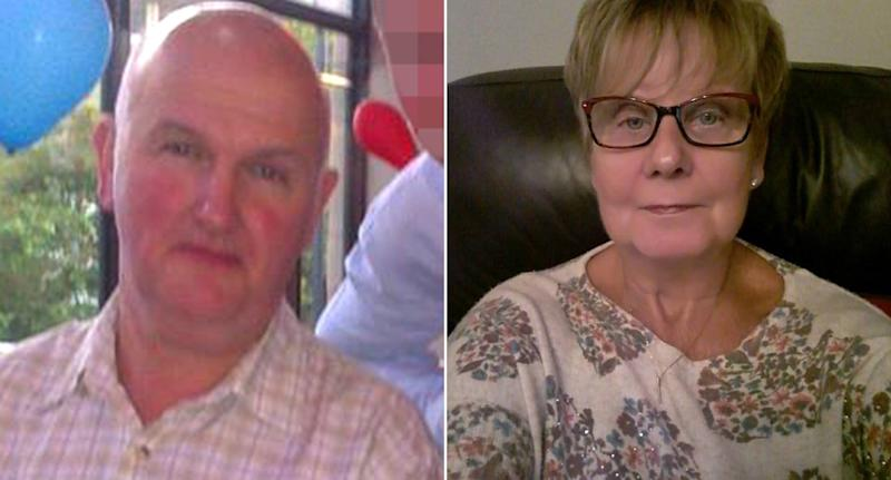 Anthony Williams appeared in court charged with killing wife Ruth at their home in South Wales where they had been self isolating for the past week (SWNS)