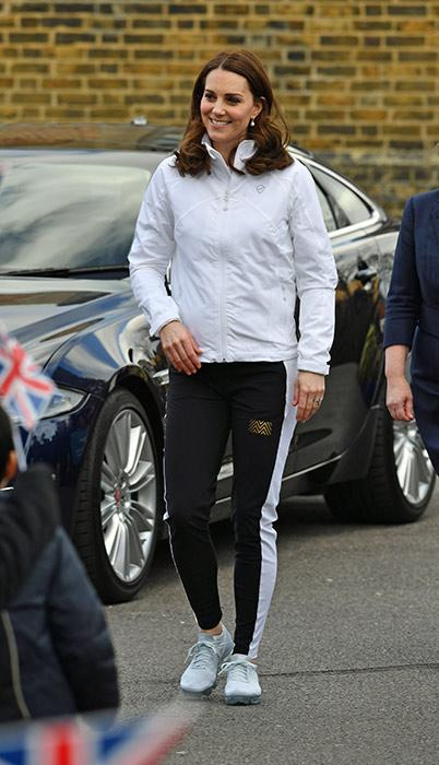 Kate Middleton spotted wearing a tracksuit