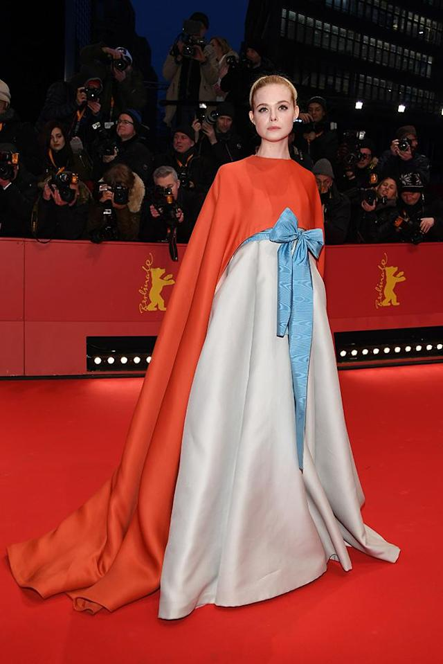 <p>Elle Fanning attends the opening ceremony and<em> Isle of Dogs</em> premiere during the 68th Berlinale International Film Festival Berlin at Berlinale Palace on Feb. 15. (Photo: Pascal Le Segretain/Getty Images) </p>