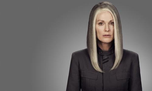 Julianne Moore as President Alma Coin in 'The Hunger Games: Mockingjay - Part 1