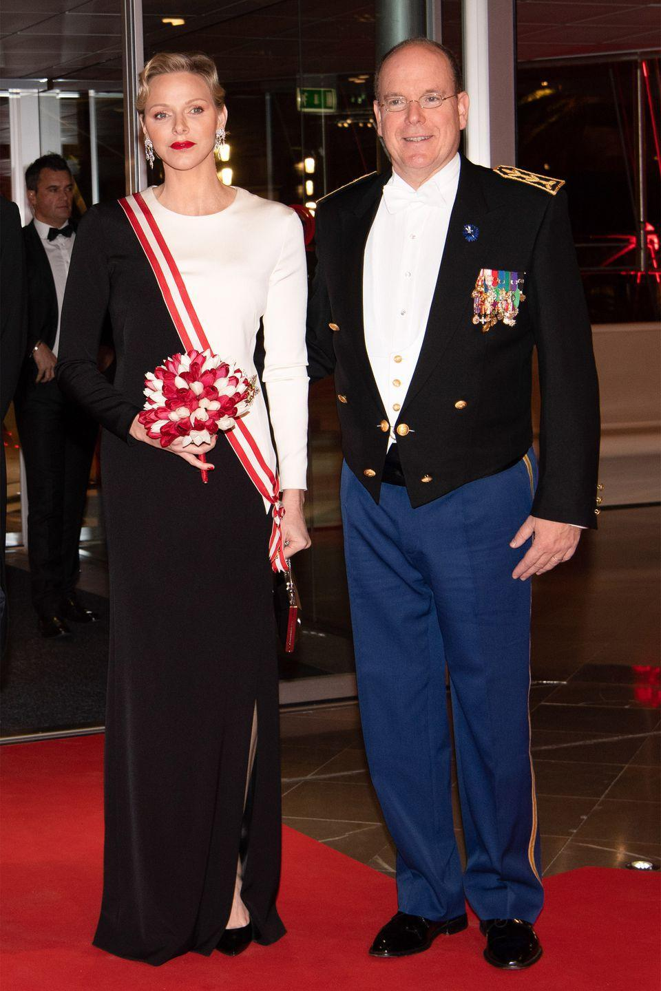 "<p>First meeting at a swimming competition in Monte Carlo in 2000, Princess Charlene of Monaco, then 22, and Prince Albert II of Monaco, then 42, dated for ten years before finally becoming engaged in 2011. The couple married that same year in a lavish royal wedding, where the bride stunned in a a <a href=""https://us.hellomagazine.com/royalty/gallery/2016070132199/princess-charlene-prince-albert-royal-wedding-anniversary/3/"" rel=""nofollow noopener"" target=""_blank"" data-ylk=""slk:Giorgio Armani gown"" class=""link rapid-noclick-resp"">Giorgio Armani gown</a>.</p>"