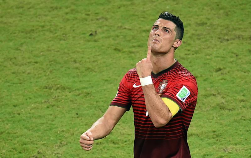 Portugal's Cristiano Ronaldo shows his frustration during the World Cup match against the USA at the Amazonia Arena in Manaus, on June 22, 2014