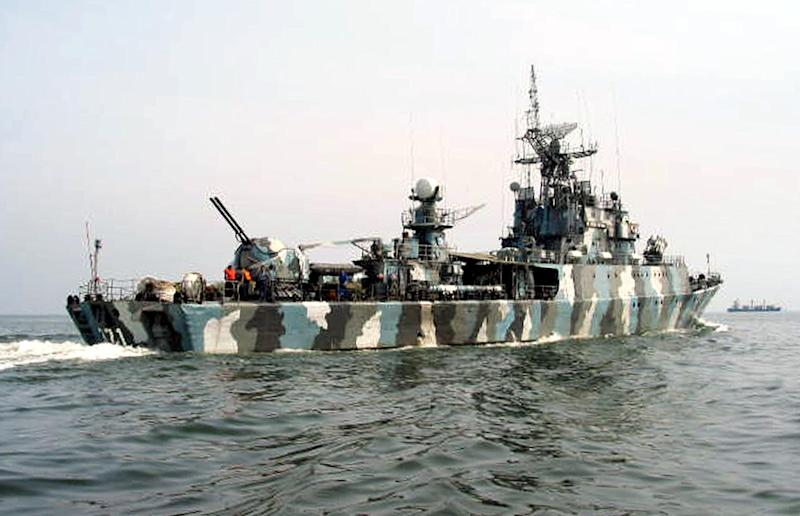 An Indonesian Navy warship patrolling the Malacca Strait after a spate of kidnappings by pirates, pictured in an undated photo received on March 15, 2005