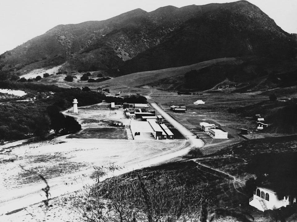<p>Universal Studios Hollywood first opened on March 15, 1915, when Carl Laemmle invited thousands to his 230-acre property. Shown here is the backlot of the now-famous production company. </p>