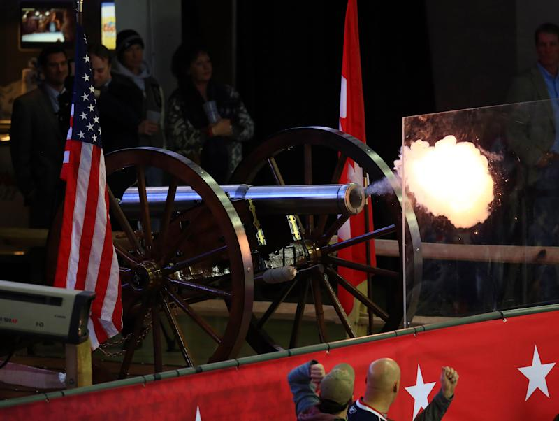 Columbus cannon causes havoc during 2015 NHL All-Star Game