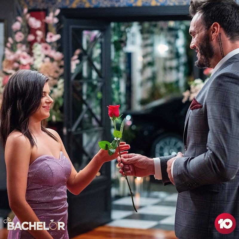 Laura Calleri on The Bachelor 2020 with Locky Gilbert