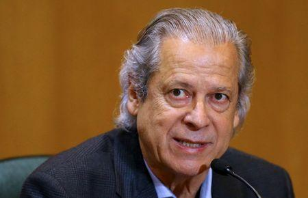 Dirceu, former Brazilian President Lula da Silva's chief of staff, attends a session of the Parliamentary Committee of Inquiry in Curitiba