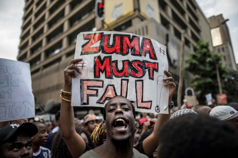 Protesters were calling for the resignation of the president after a highly controversial reshuffle