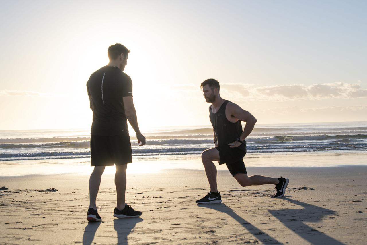 """<p>Think you need a hefty salary and a cohort of personal trainers to hit a workout like <a href=""""https://www.menshealth.com/uk/fitness/a27099457/chris-hemsworth-luke-zocchi-avengers/"""" target=""""_blank"""">Chris Hemsworth</a>? Think again. Even though the 36-year-old Avengers star is very much at Hollywood's forefront, the way he trains is anything but complicated. In fact, in some of his workouts, he relies on just his bodyweight to burn fat and to <a href=""""https://www.menshealth.com/uk/building-muscle/g751477/beginner-guide-to-building-muscle/"""" target=""""_blank"""">build muscle</a>. </p><p>Here, Hemsworth's PT, Luke Zocchi — himself a <a href=""""https://www.menshealth.com.au/luke-zocchi-mens-health-cover-march-2020"""" target=""""_blank"""">Men's Health Australia cover model</a> — shares a five-move workout that you can grind through wherever you like, from the gym to a cubby hole in your house to burn fat, build muscle and improve your cardiovascular system quick-sharp. Depending on your strength and fitness, you can scale or upgrade the workout how you like. All you need to do is work for 20, 30 or 40 seconds and rest for the remainder of the minute. Begin a new move every minute, aiming to work through four total rounds, ending the workout at the 20-minute mark. </p><p>""""This workout is all about using your bodyweight for a killer workout that you can do anytime, anywhere,"""" explains Zocchi. """"It will only take you 20 minutes, but don't underestimate how tough it can be! Repeat the full circuit four times and if you think you could be working harder, shrink your rest times.""""</p><p><strong>Beginner:</strong> Work for 20 seconds, rest for 40</p><p><strong>Intermediate</strong>: Work for 30 seconds, then rest for 30</p><p><strong>Advanced:</strong> Work for 40 seconds, rest for 20</p><p>_______</p><p><small>Luke Zocchi is one of the featured trainers on Centr6, the new group workout program available exclusively on Chris Hemsworth's personalised digital health and fitness program, <a hre"""