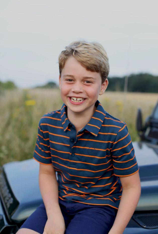 This July 2021 photo issued by Kensington Palace on July 21 shows Prince George in Norfolk, England, in a photo taken by his mother. The young royal celebrates his eighth birthday on July 22. (Photo: Duchess of Cambridge via AP)