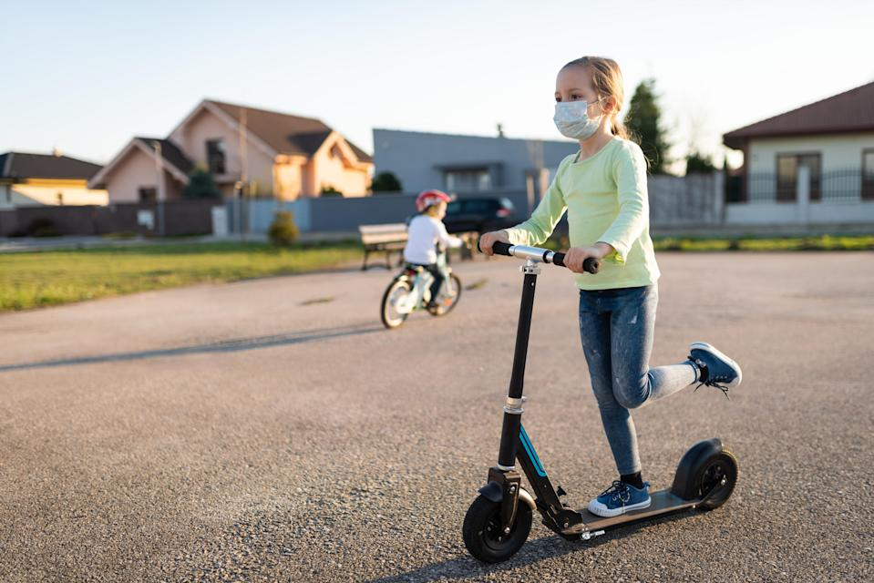 The Centers for Disease Control and Prevention say that children over 2 years of age should wear masks to protect themselves from COVID-19. (Photo: Getty Images)