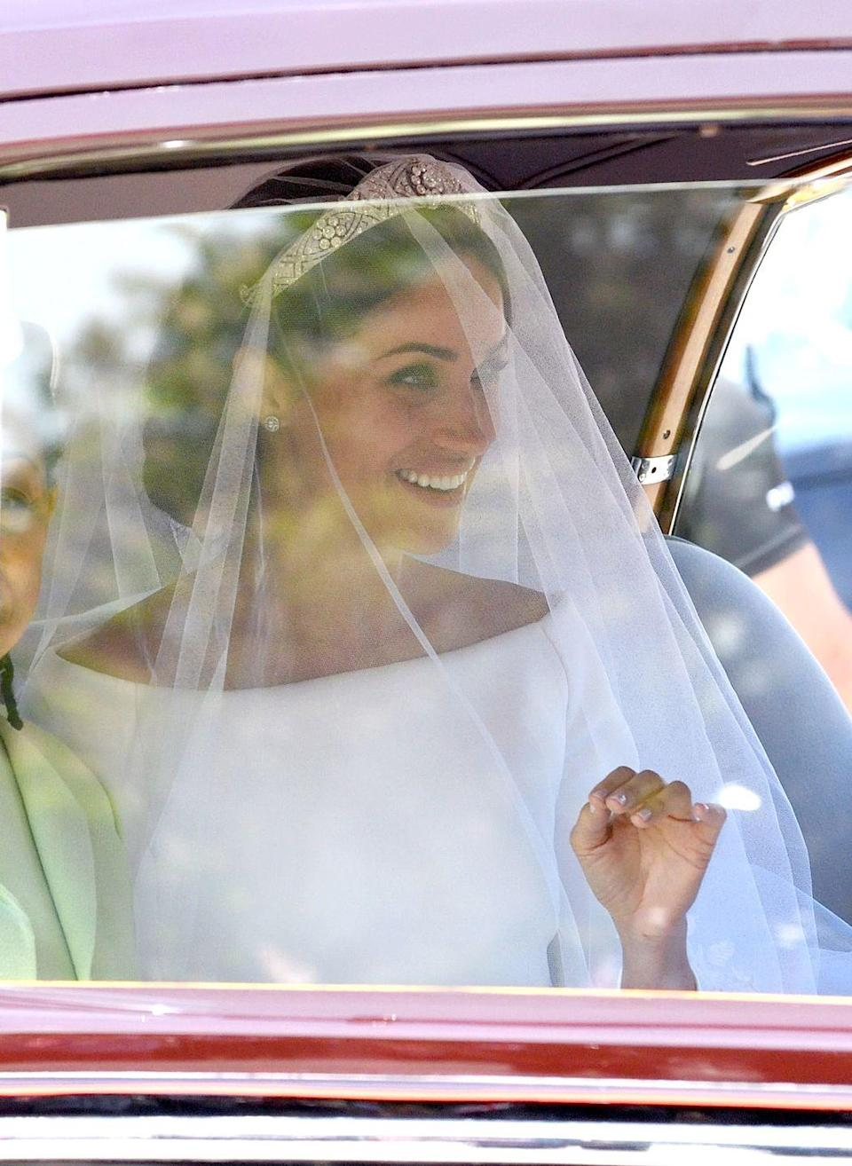 <p>The jewels from her tiara are still blinding me!</p>