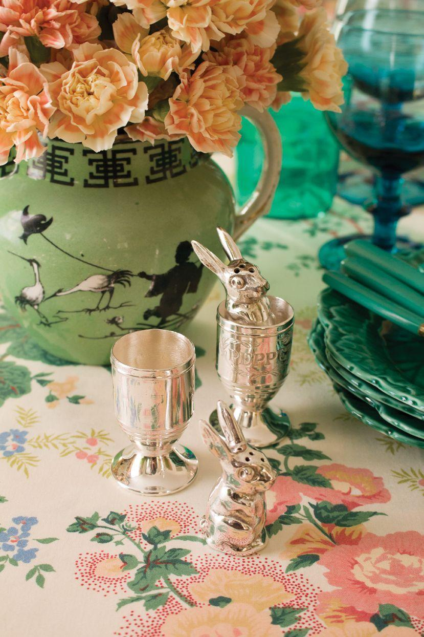 """<p>""""Add a dash of whimsy to the table with figural serving pieces and accessories. These silver-plated salt and pepper shakers were my grandmother's, but new styles can be just as chic."""" <em>—<a href=""""http://eddieross.com/"""" rel=""""nofollow noopener"""" target=""""_blank"""" data-ylk=""""slk:Eddie Ross"""" class=""""link rapid-noclick-resp"""">Eddie Ross</a>, Co-Founder, Maximalist Studios</em></p>"""