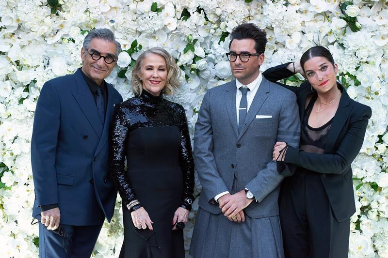 Quirky Canadian comedy 'Schitt's Creek' takes Emmys by storm with comedy sweep