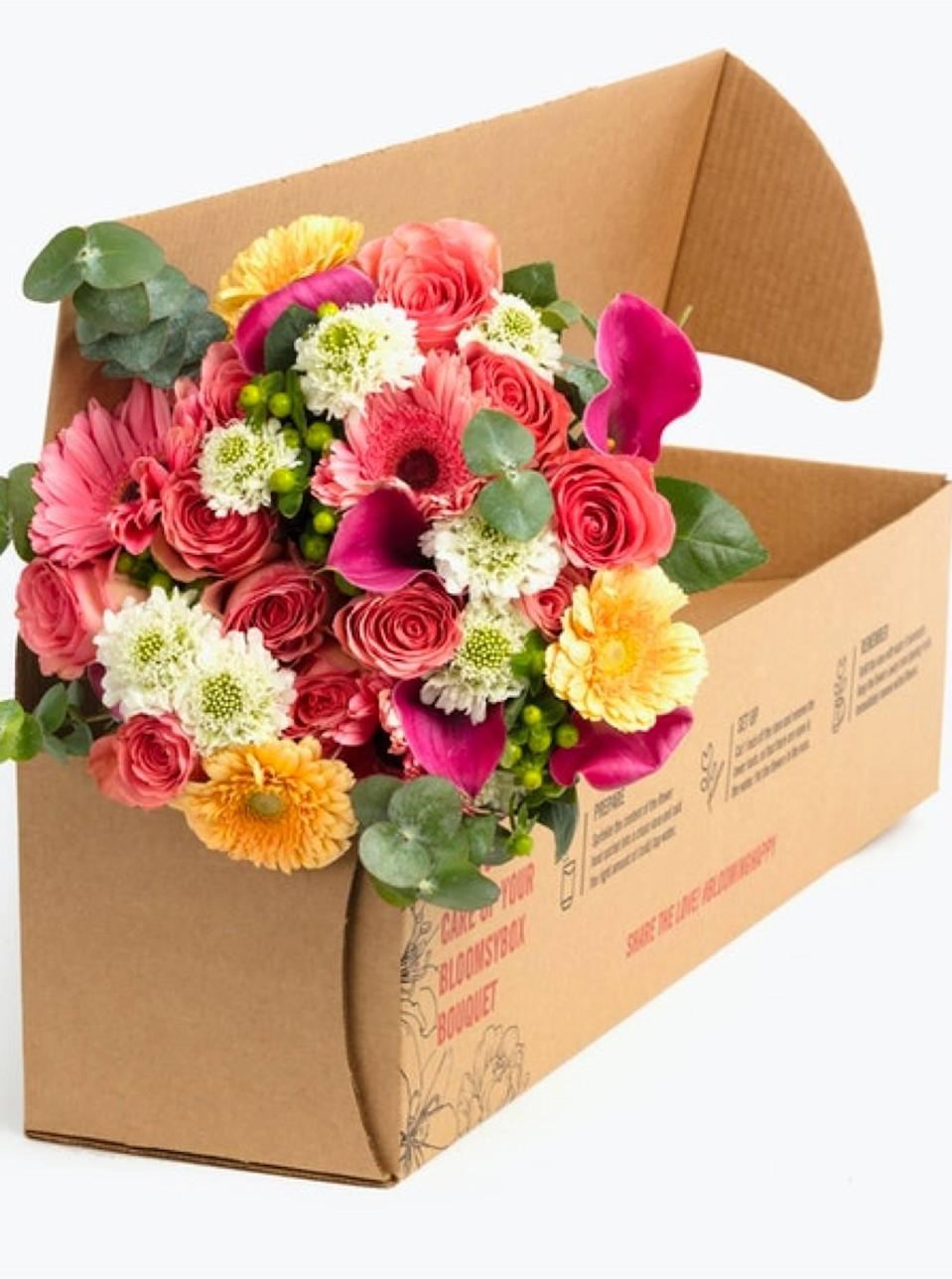 "BloomsyBox is here to solve all your wilted woes: Flowers are shipped nationwide in bud form, and each bouquet is hand-tied and wrapped in eco-friendly paper for extra care. $70, Pastel Daydream Premium. <a href=""https://www.bloomsybox.com/p/sweet-love-premium"" rel=""nofollow noopener"" target=""_blank"" data-ylk=""slk:Get it now!"" class=""link rapid-noclick-resp"">Get it now!</a>"