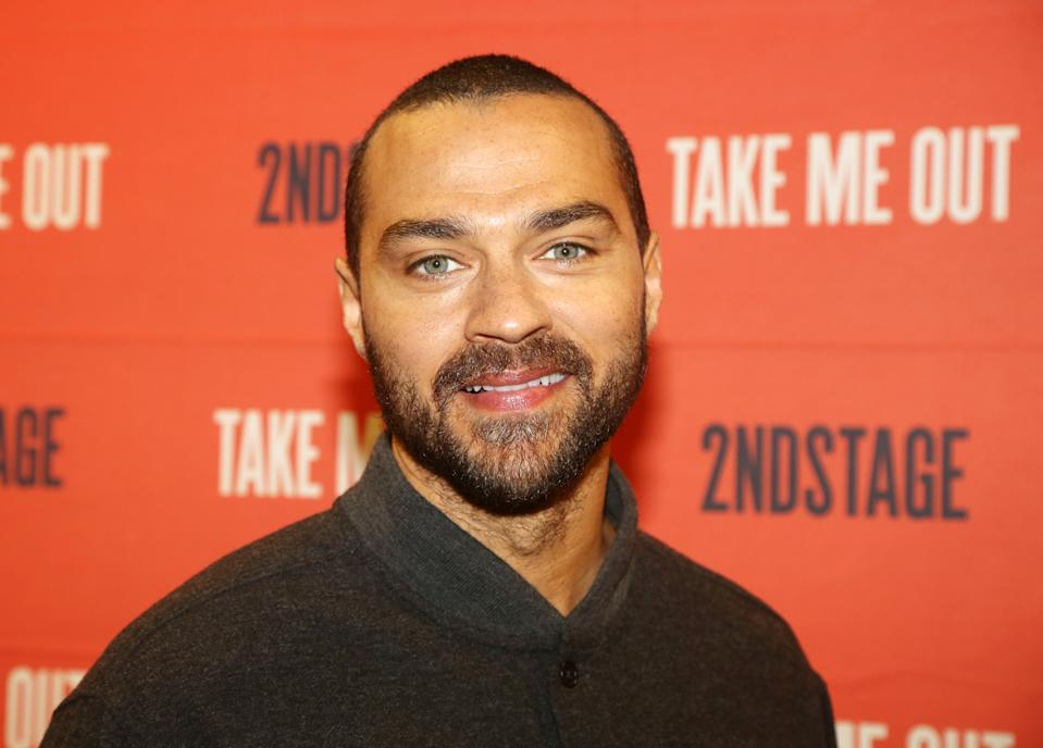 "NEW YORK, NEW YORK - MARCH 11: Jesse Williams poses at a photo call for the Second Stage play ""Take Me Out"" on Broadway at The Baseball Center on March 11, 2020 in New York City. (Photo by Bruce Glikas/WireImage)"