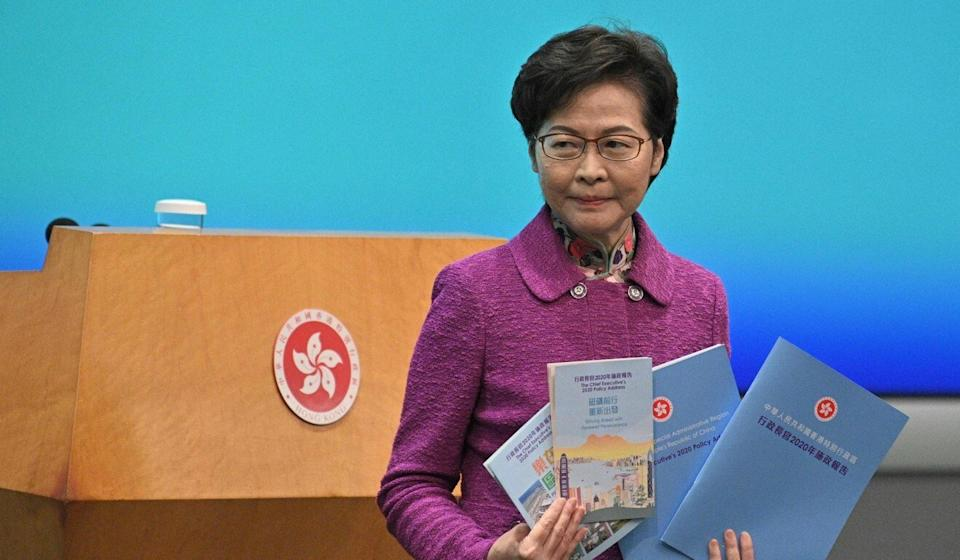 Hong Kong Chief Executive Carrie Lam has floated proposals to revamp attractions in Southern district, including Ocean Park. Photo: AFP