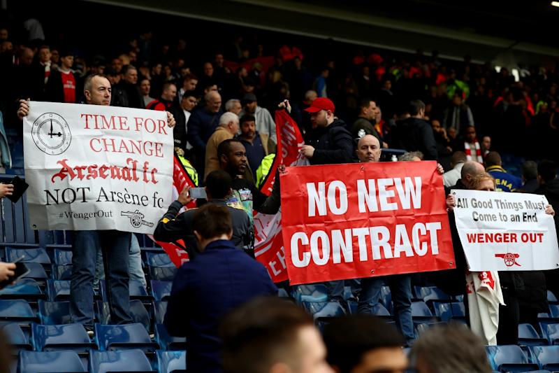 Arsenal fans are very unhappy with the team under Wenger