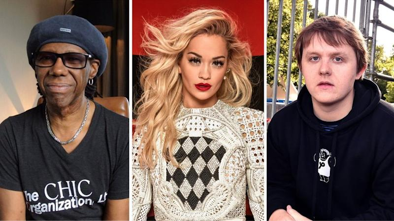 Nile Rodgers, Rita Ora and Lewis Capaldi