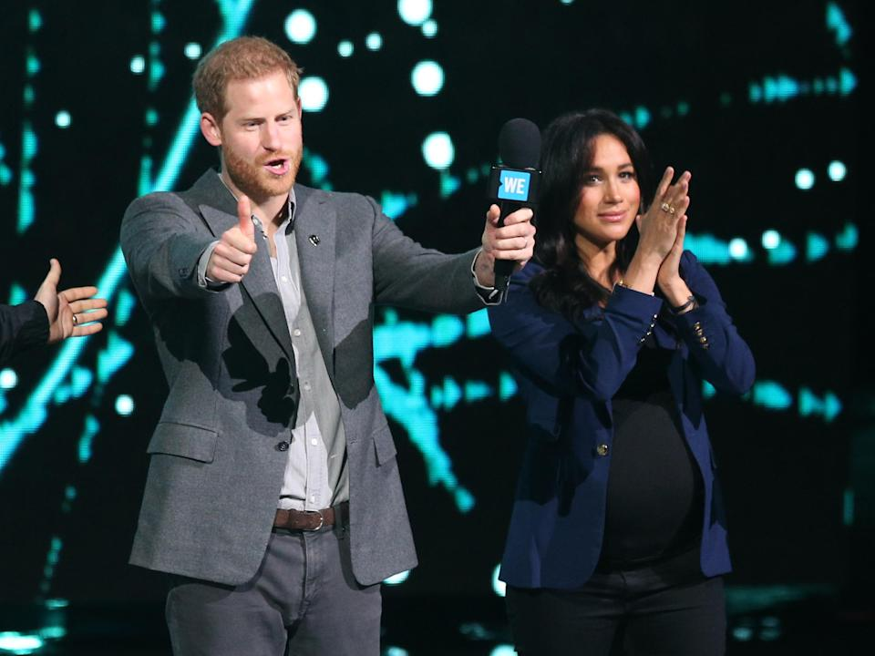 Meghan and Harry at WE Day. [Photo: PA]