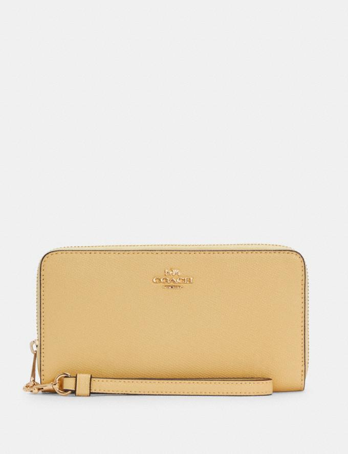 Long Zip Around Wallet- Coach Outlet