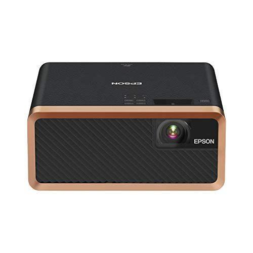 """<p><strong>Epson</strong></p><p>amazon.com</p><p><strong>$899.99</strong></p><p><a href=""""https://www.amazon.com/dp/B081W8RMVX?tag=syn-yahoo-20&ascsubtag=%5Bartid%7C10055.g.36302920%5Bsrc%7Cyahoo-us"""" rel=""""nofollow noopener"""" target=""""_blank"""" data-ylk=""""slk:Shop Now"""" class=""""link rapid-noclick-resp"""">Shop Now</a></p><p>Epson's mini laser is powered by Android TV, so if that's your preferred OS, you'll be right at home with the process of streaming content from a range of familiar apps, including Hulu, Netflix, and YouTube. It's a <strong>highly sophisticated projector that uses laser technology instead of the standard lamp for an exceptionally crisp picture,</strong> even when there's some daylight remaining. The 150-inch picture benefits from 2,000-lumen brightness, so viewers will be able to enjoy the show from various angles. </p>"""