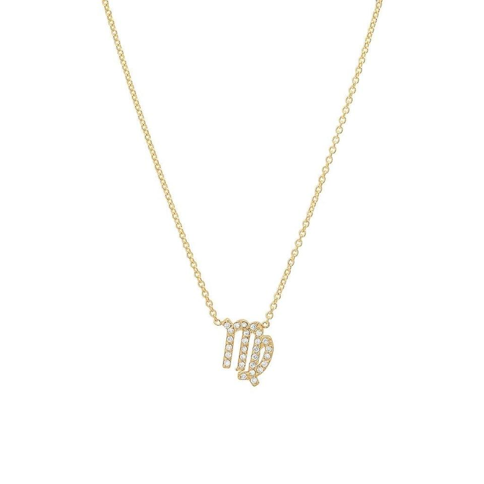 """<p>""""My birthday, anniversary, and the birth of two of my children were all in the month of August during Virgo season. This delicate <span>ByChari Diamond Virgo Necklace</span> ($450) would make such a romantic Valentine's gift. All zodiac charms come in 14k gold or diamonds."""" - DAC</p>"""