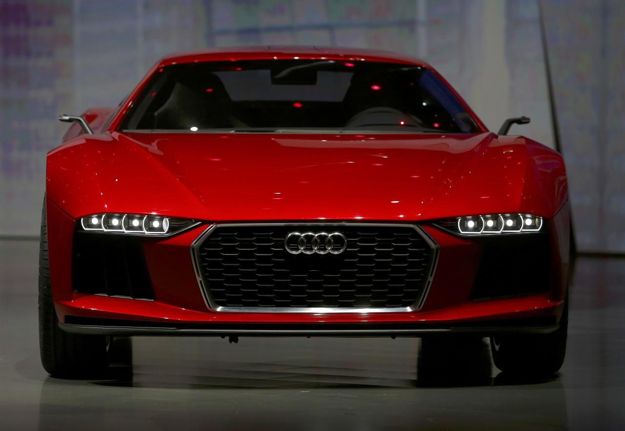 """The new """"Audi Nanuk"""" is presented during the Volkswagen group night at the Frankfurt motor show September 9, 2013. The world's biggest auto show is open to the public September 14 -22. REUTERS/Ralph Orlowski (GERMANY - Tags: BUSINESS TRANSPORT)"""