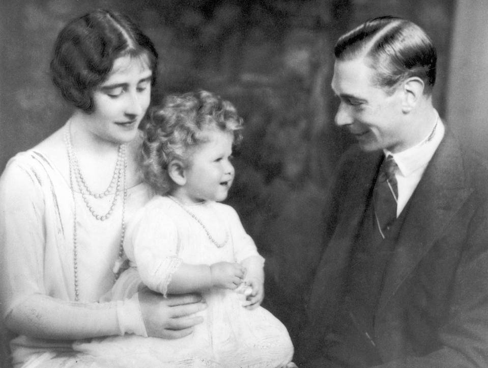 The Duke and Duchess of York with Princess Elizabeth. 1928 (Photo by Daily Mirror/Mirrorpix/Mirrorpix via Getty Images)