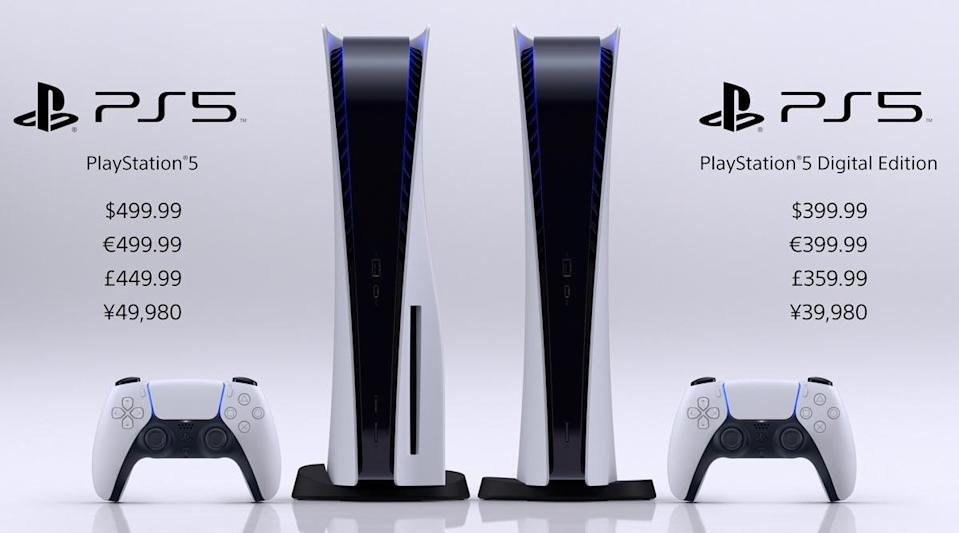 Sony PS5, PS5 Digital Edition Gaming Console Prices & Release Date Revealed