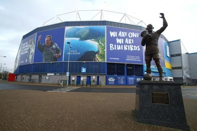Cardiff City Stadium in the Welsh capital was set host the Pro14 final (AFP Photo/GEOFF CADDICK)