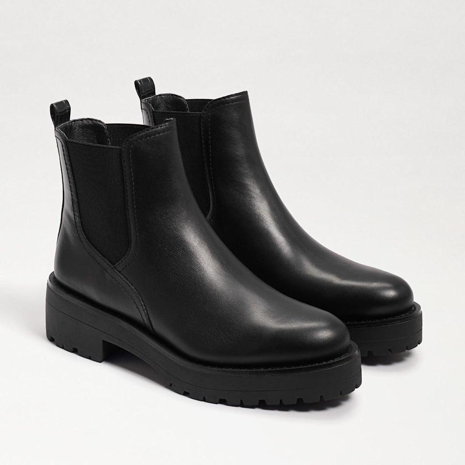 <p>The <span>Sam Edelman Justina Lug Sole Chelsea Boot</span> ($150) is one you're going to want to wear all the time, rain or shine.</p>