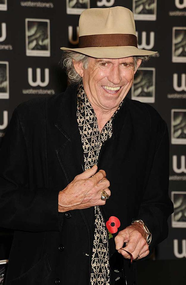 "December 18: Keith Richards turns 67 Dave M. Benett/<a href=""http://www.gettyimages.com/"" target=""new"">GettyImages.com</a> - November 3, 2010"