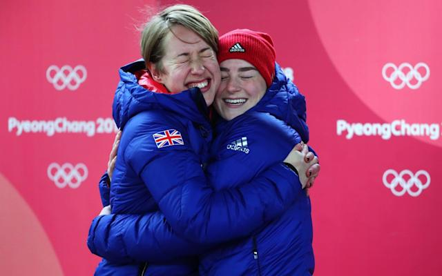 Lizzy Yarnold takes gold to retain Olympic title as Laura Deas wins bronze