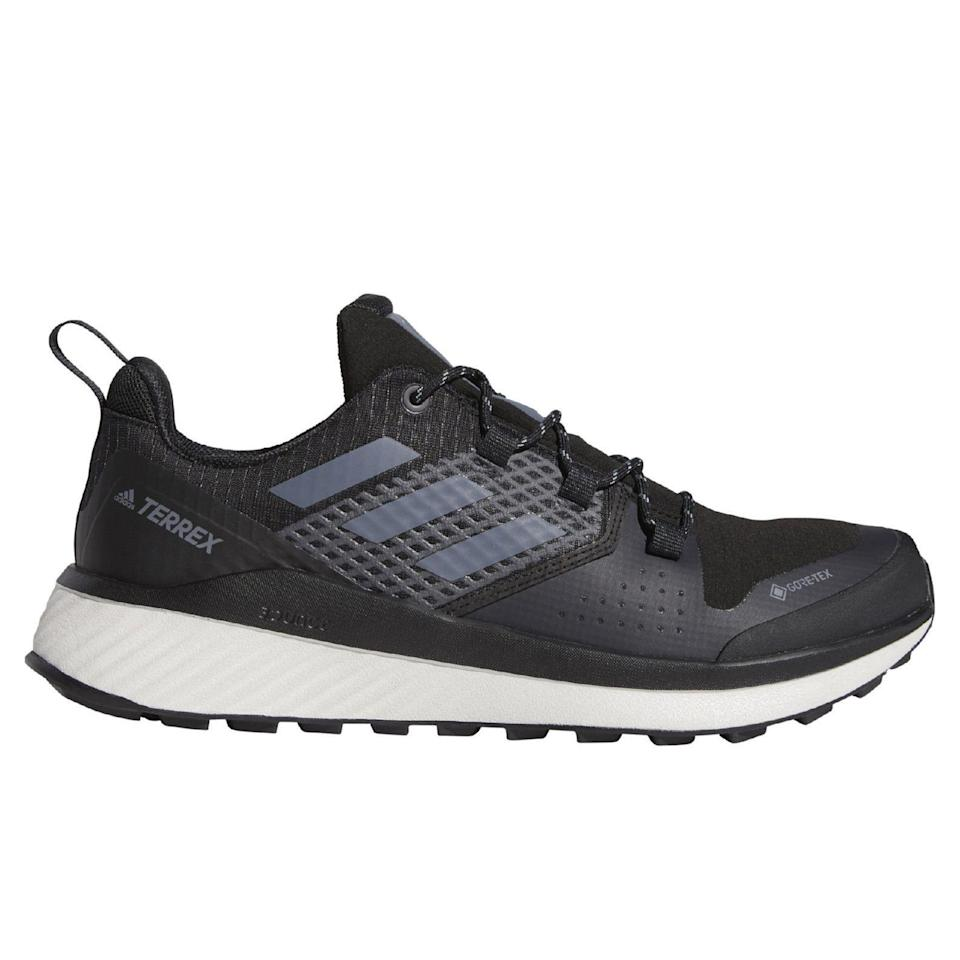 """<p><strong>adidas</strong></p><p>huckberry.com</p><p><a href=""""https://go.redirectingat.com?id=74968X1596630&url=https%3A%2F%2Fhuckberry.com%2Fstore%2Fadidas%2Fcategory%2Fp%2F59666-terrex-bounce-hiker-gtx&sref=https%3A%2F%2Fwww.menshealth.com%2Fstyle%2Fg33472054%2Fhuckberry-semi-annual-summer-sale-mens-deals%2F"""" rel=""""nofollow noopener"""" target=""""_blank"""" data-ylk=""""slk:BUY IT HERE"""" class=""""link rapid-noclick-resp"""">BUY IT HERE</a></p><p><del>$140.00</del><strong><br>$90.98</strong></p><p>Believe it or not, Adidas has a lot more to offer than sneakers. With a waterproof membrane and thick, rubber outsole, these hiking shoes will protect your feet from rocks and rough terrain. In true Adidas fashion, this pair is decked out with the brand's signature Boost technology. </p>"""