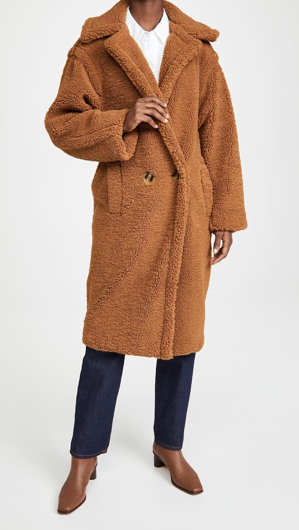 """<p><span>Apparis Daryna Coat</span> ($395) </p> <p>""""A beautiful coat is always at the top of my wish list, but especially this year. It's an easy one-and-done outfit you can throw on over sweatpants and a hoodie and still feel pulled together. Lazy dressing that looks infinitely more polished is something a lot of us can appreciate, no?"""" - HWM </p>"""