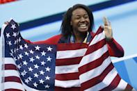 """<p>Even as a four-time Olympic medalist, Manuel feels as though her Blackness is still her defining feature in the predominantly white sport. During her July 2020 interview with <strong>People</strong>, she explained that <a href=""""http://people.com/sports/simone-manuel-exclusive-interview/"""" class=""""link rapid-noclick-resp"""" rel=""""nofollow noopener"""" target=""""_blank"""" data-ylk=""""slk:people have often reacted with surprise when she revealed that she's a swimmer"""">people have often reacted with surprise when she revealed that she's a swimmer</a>. """"It's very obvious that it's rooted in the thinking that Black people can't swim, shouldn't swim, or can't be successful in the sport of swimming,"""" Manuel said. """"I've gotten responses like that. I've gotten laughed at when I've told people I swim.""""</p> <p>While she loves to inspire young Black athletes and encourage them to get into the pool, """"<a href=""""http://www.teamusa.org/News/2016/August/11/Simone-Manuel-Wins-100-Free-Is-First-African-American-Female-Swimmer-To-Win-Individual-Medal"""" class=""""link rapid-noclick-resp"""" rel=""""nofollow noopener"""" target=""""_blank"""" data-ylk=""""slk:I would like there to be a day where there are more of us"""">I would like there to be a day where there are more of us</a> and it's not 'Simone, the Black swimmer,'"""" Manuel said at the 2016 Olympics, after becoming the first Black woman to win an individual Olympic medal in swimming. """"The title 'Black swimmer' makes it seem like I'm not supposed to be able to win a gold medal or I'm not supposed to be able to break records and that's not true because I work just as hard as anybody else. I want to win just like everybody else.""""</p>"""