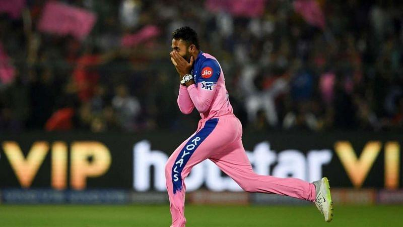Shreyas Gopal picked up 3 wickets in a single over against RCB