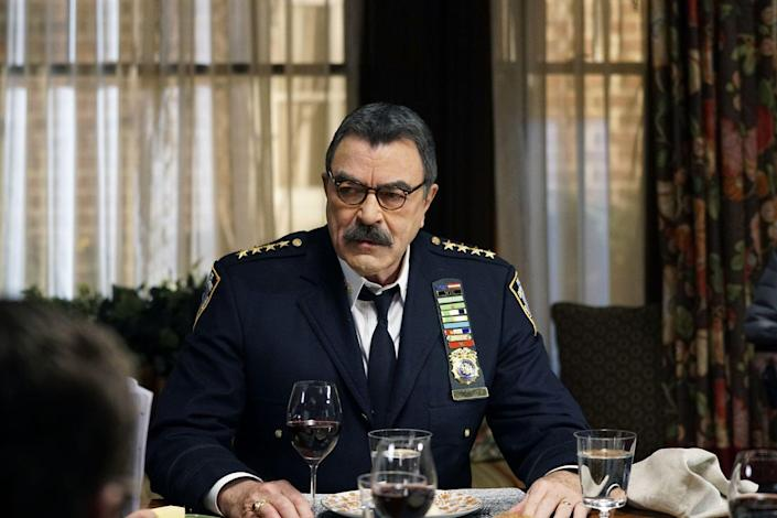 <p>Selleck was a mega-star from <em>Magnum P.I.</em> and <em>Three Men and a Baby </em>before he joined the cast of <em>Friends</em> as Monica's more mature love interest Richard Burke. But he's been playing the commanding Frank Reagan on the CBS drama <em>Blue Bloods</em> for so long, that it is hard to remember his funnier side.</p>